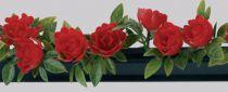 Barrette roses rouge Bte 12