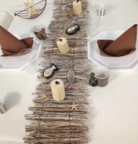 Chemin de table bois 20/50 cm