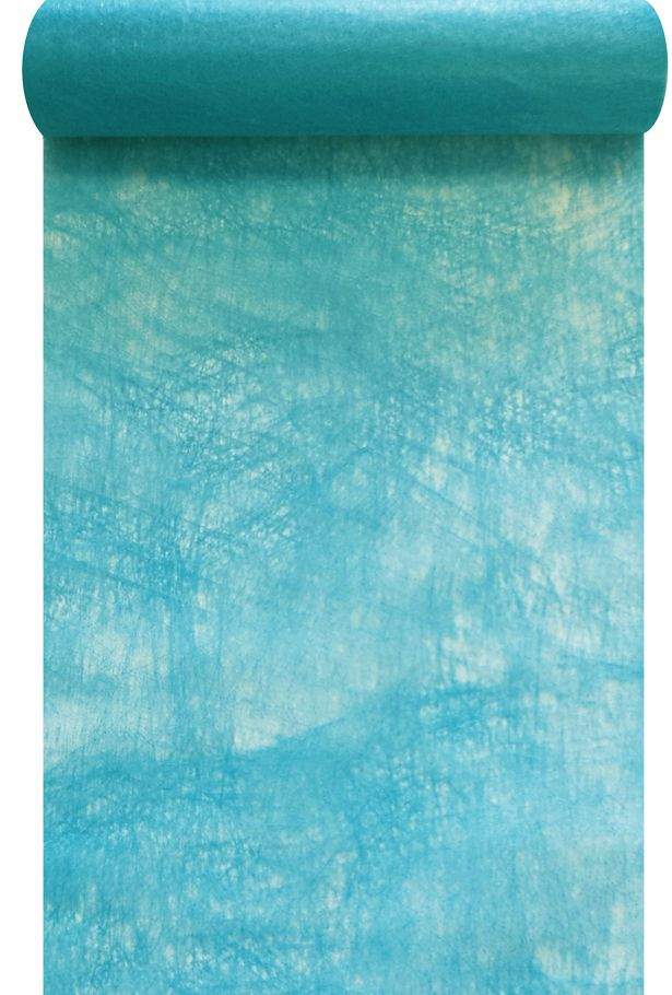 chemin de table intiss bleu turquoise 30cm x 10m