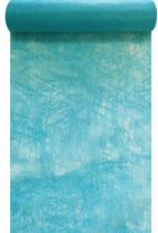 Chemin de table intissé bleu turquoise 30cm x 10m