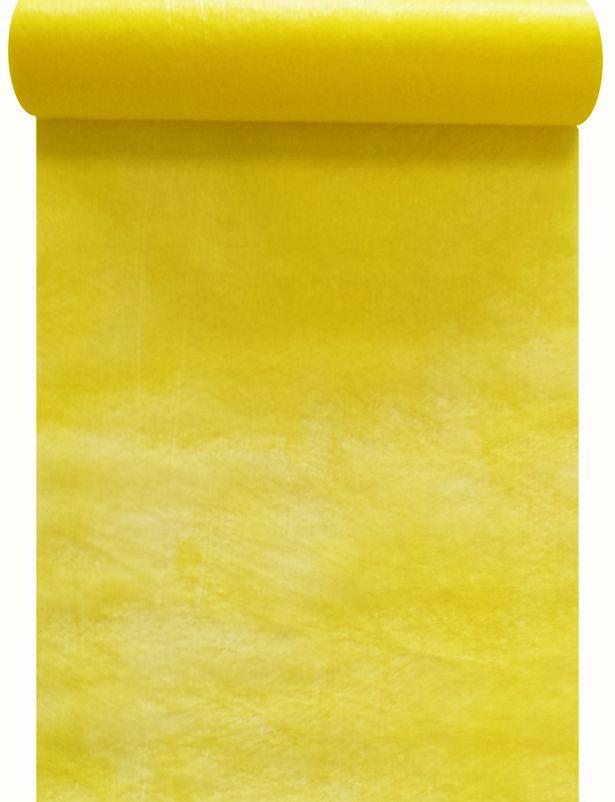 Chemin de table intissé jaune 30cm x 10m