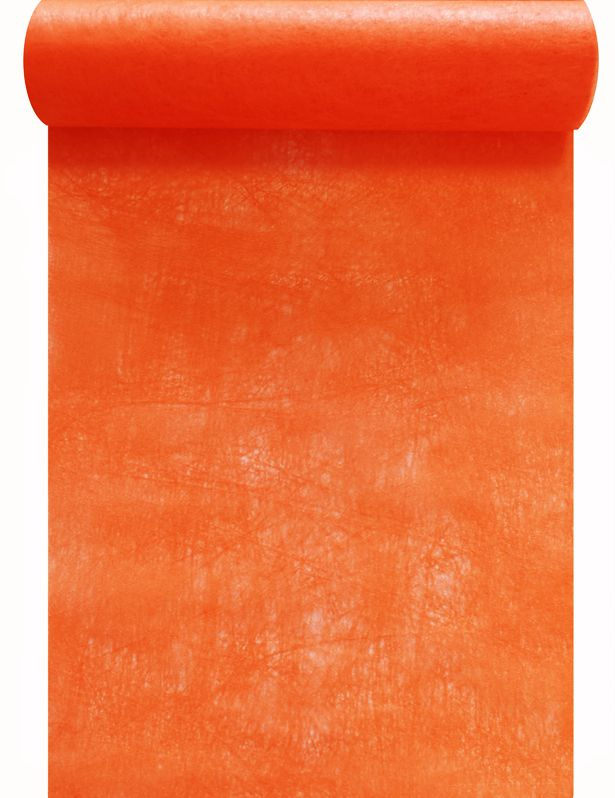 Chemin de table intissé orange 30cm x 10m