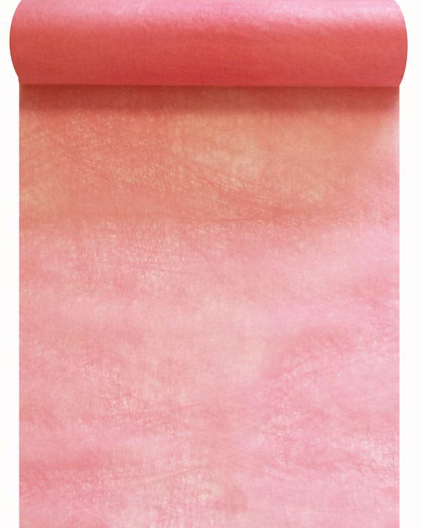 Chemin de table intissé rose pastel 30cm x 10m