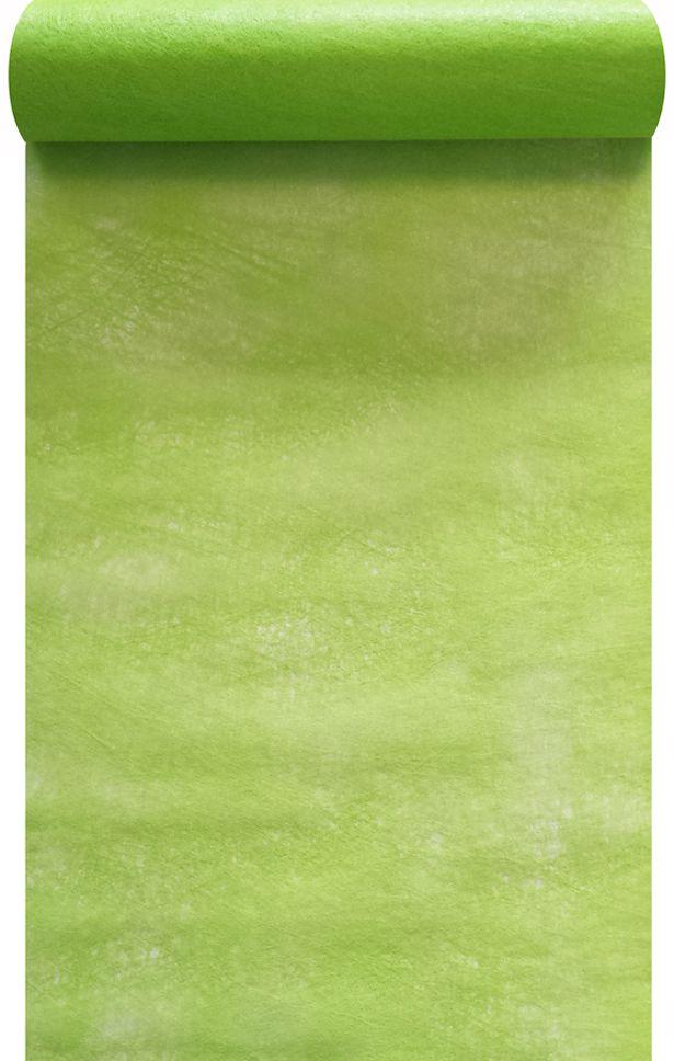 Chemin de table intissé vert anis 30cm x 10m