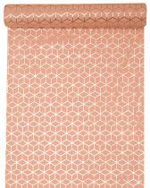 Chemin de table rose carreau de ciment 28cm x 3m