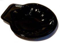 Coquille plastique noire Pqt 100