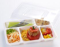 Couvercle pour plateau repas 5 compartiments