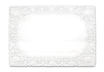 Dentelle rectangle blanche 20 x 30 cm  p250