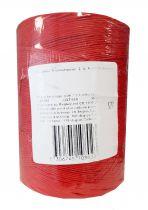 Ficelle lin rouge sur tube 20/2