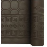 Nappe papier damassé chocolat 1.20/25m