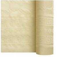 Nappe papier damassé ivoire 1.20/25m