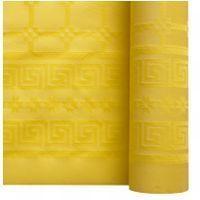 Nappe papier damassé jaune citron 1.20/25m