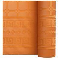 Nappe papier damassé mandarine 1.20/25m