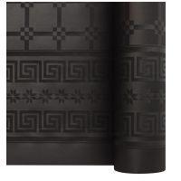 Nappe papier damassé noire 1.20/25m