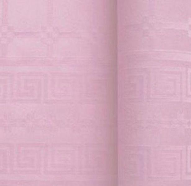 Nappe papier damassé rose poudré 1.20/25m