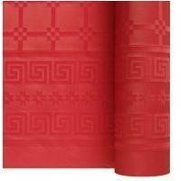 Nappe papier damassé rouge 1.20/25m