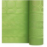 Nappe papier damassé vert pomme 1.20/25m