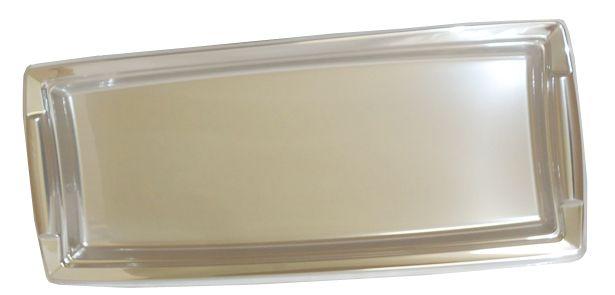 Plat de présentation métal argent 36 x 16.3 cm Pqt 5