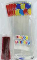 Sac bonbon happy birthday + attache Pqt 25