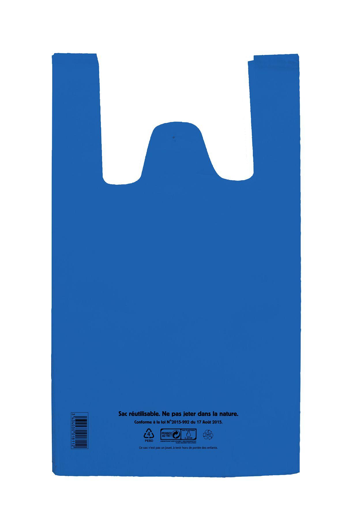Sac bretelle bleu BD 26+12x45 c1000