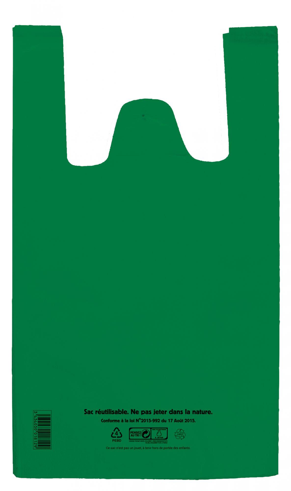 Sac bretelle vert BD 26+12x45 c1000