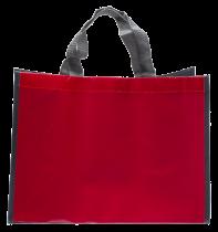 Sac cabas Rouge/Gris neutre ou personnalisable