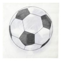 Serviette Ballon de foot 33 x 33 cm 3F Pqt 20