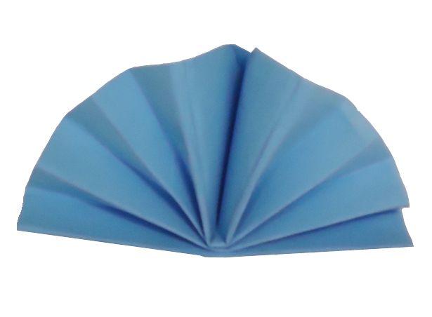 Serviette céli-ouate bleu ciel 38 x 38 cm Pqt 50