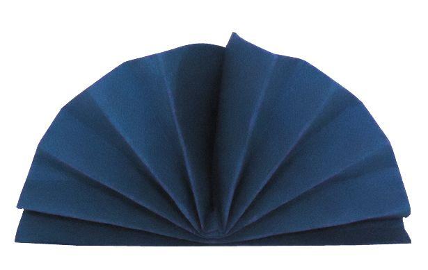 Serviette céli-ouate bleu marine 38 x 38 cm Pqt 50
