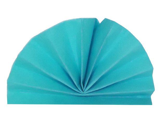 Serviette céli-ouate bleu turquoise 38 x 38 cm Pqt 50