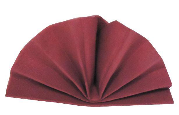 Serviette céli-ouate bordeaux 38 x 38 cm Pqt 50