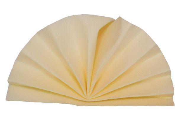 Serviette céli-ouate ivoire 38 x 38 cm Pqt 50