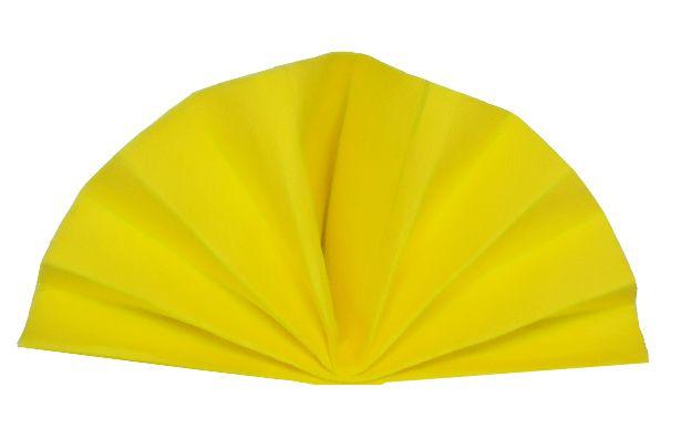 Serviette céli-ouate jaune citron 38 x 38 cm Pqt 50