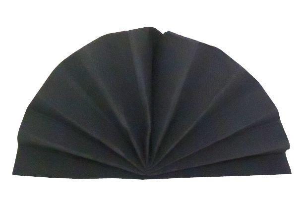Serviette céli-ouate noire 38 x 38 cm Pqt 50