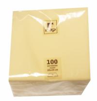 Serviette cocktail ivoire 20 x 20 cm 2F Pqt 100