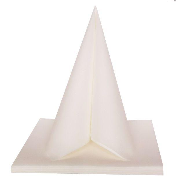 Serviette Dunilin Brillance blanche 40 x 40 cm Pqt 50