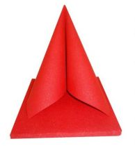 Serviette Dunilin Brillance rouge  40 x 40 cm Pqt 50