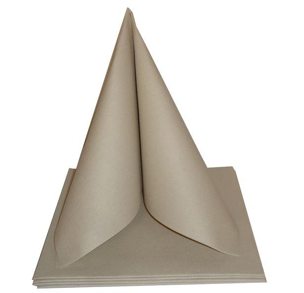 Serviette non tissée Célisoft argile 40 x 40 cm Paquet de 50
