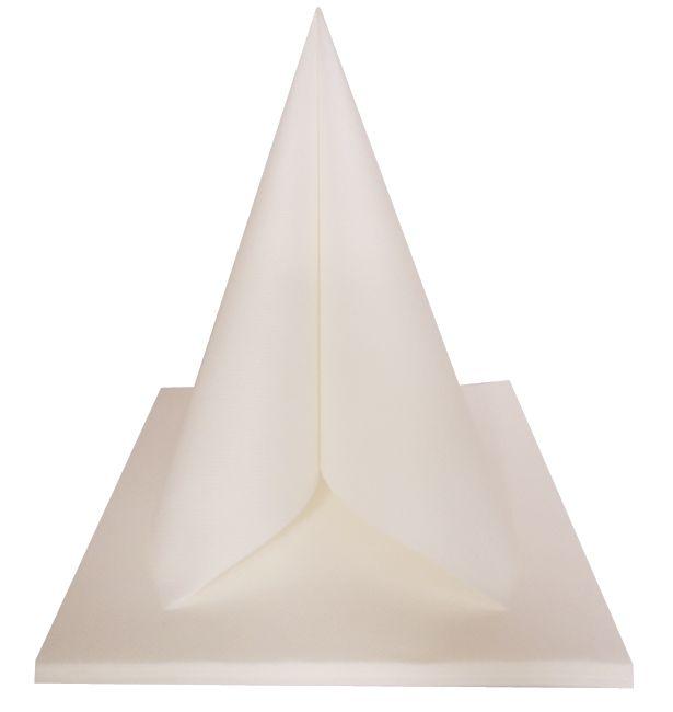 Serviette non tissée Célisoft blanche 40 x 40 cm Paquet de 50