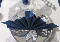 Serviette non tissée Célisoft bleu 40 x 40 cm Paquet de 50