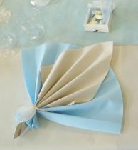 Serviette non tissée Célisoft bleu ciel 40 x 40 cm Paquet de 50
