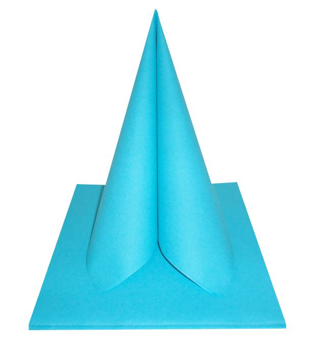Serviette non tissée Célisoft bleu turquoise 40 x 40 cm Paquet de 50