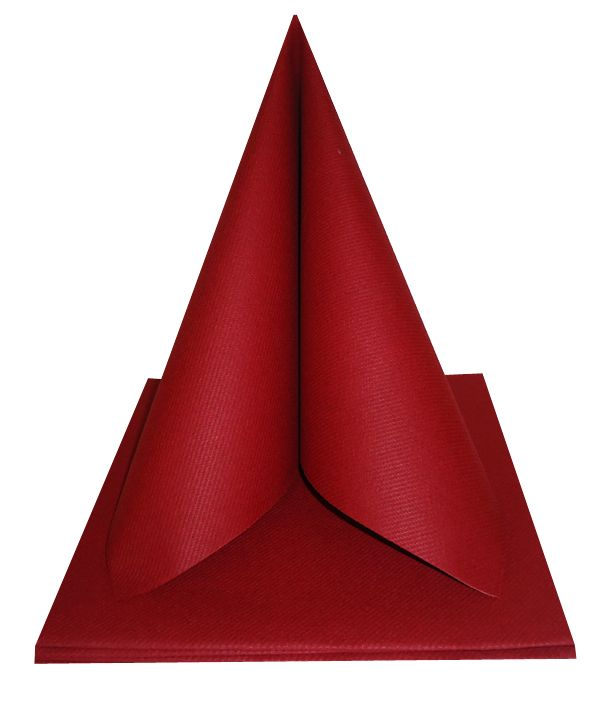 Serviette non tissée Célisoft bordeaux 40 x 40 cm Paquet de 50