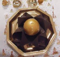 Serviette non tissée Célisoft chocolat 40 x 40 cm Paquet de 50
