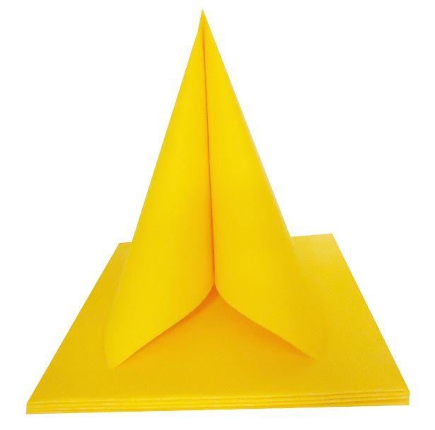 Serviette non tissée Célisoft jaune citron 40 x 40 cm Paquet de 50