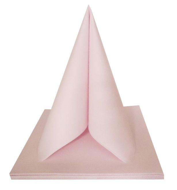 Serviette non tissée Célisoft rose poudré 40 x 40 cm Paquet de 50