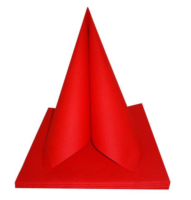 Serviette non tissée Célisoft rouge 40 x 40 cm Paquet de 50