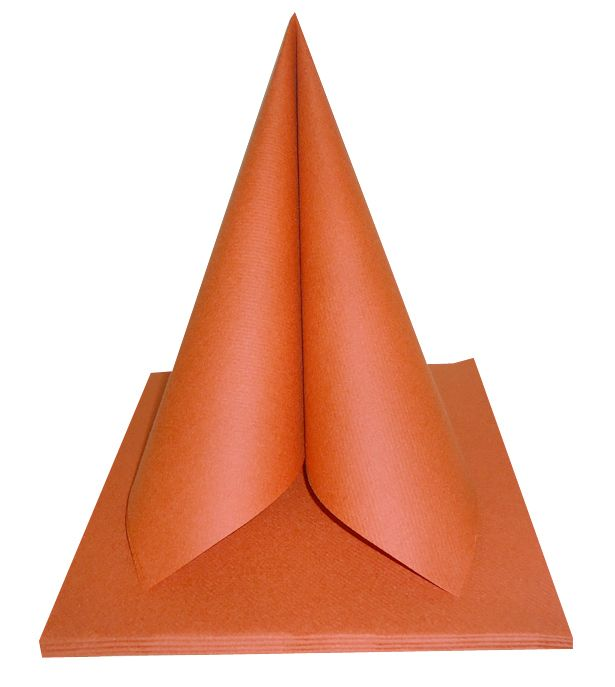Serviette non tissée Célisoft terracotta 40 x 40 cm Paquet de 50