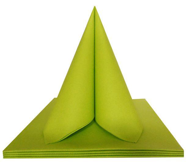 Serviette non tissée Célisoft vert chartreuse 40 x 40 cm Paquet de 50