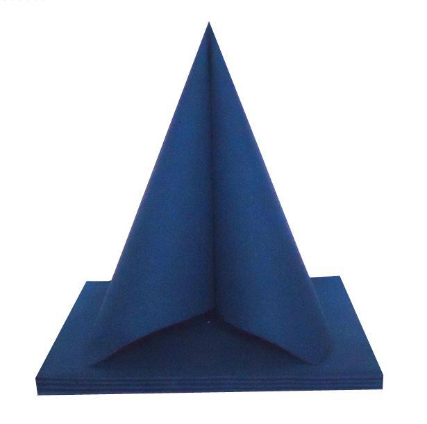 Serviette non tissée Dunilin bleu foncé 40 x 40 cm Pqt 50